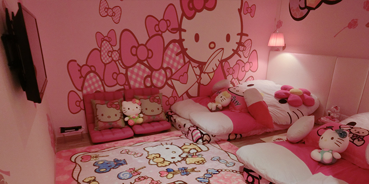 Image gallery hello kitty hotel room for Room design hello kitty