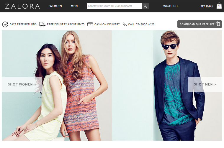 From virtually unknown to virtual giant what online fashion zalora frontpage stopboris Choice Image