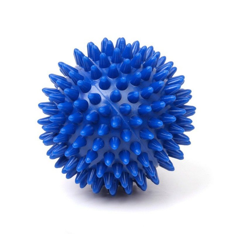 Footful Spikey Massage Ball for Arm Back Stress Relief 7CM Deep Blue
