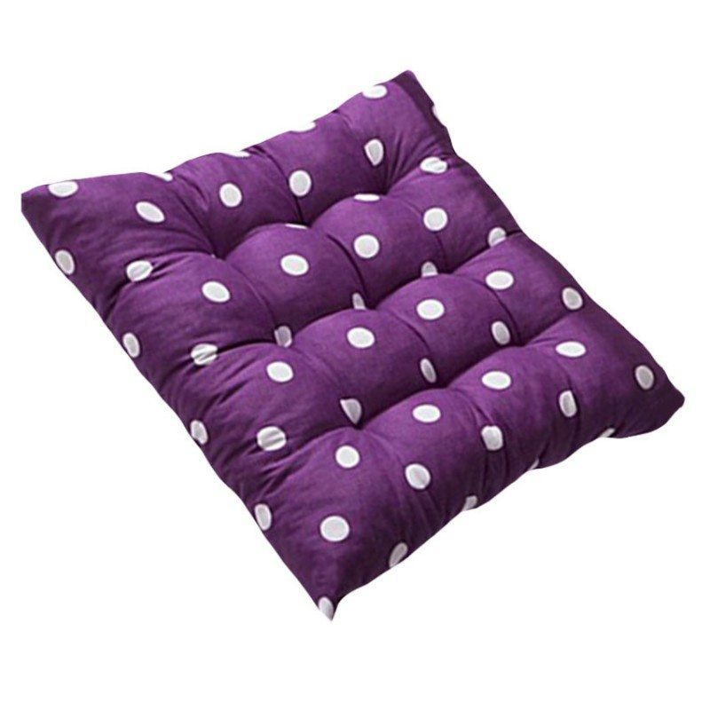 Polka Dots Anti-Stress Chair Cushion (Purple)