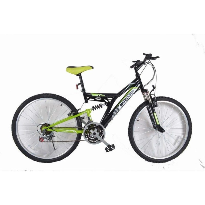 Marsstar 26 Inches Mountain Bike 2618 Ruby Black & Green