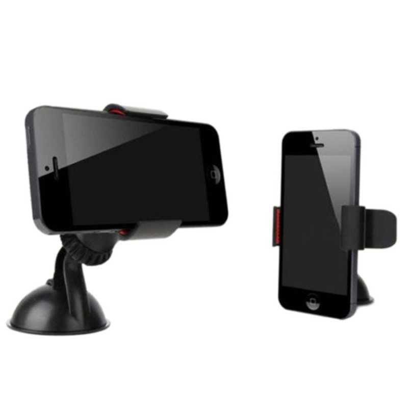 Sanwood Universal Car Stick Mount Mobile Phone GPS Stand Holder (Black)